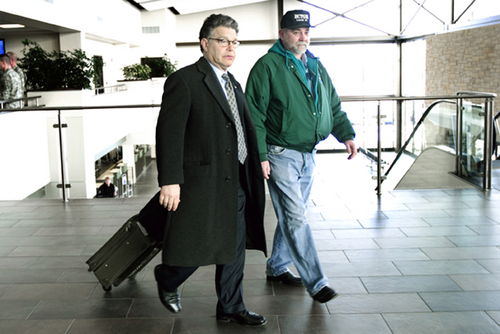 Al Franken (left), Mark Froemke