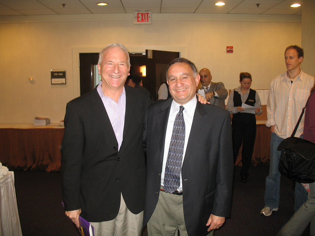 Demos President Miles Rapoport and SEIU President Andy Stern in May 2008