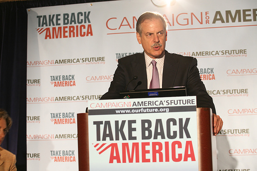 Robert Borosage speaks at the opening plenary of the 2007 Take Back America Conference