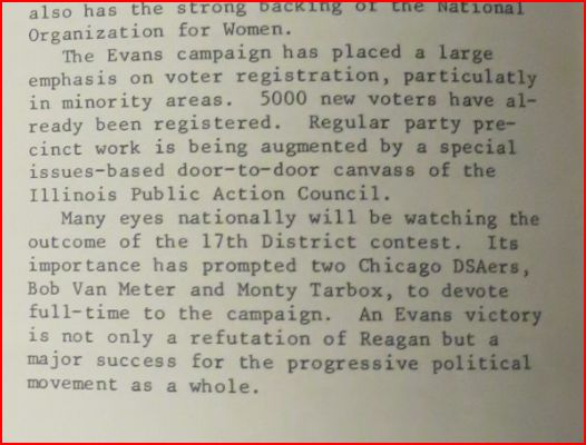 Chicago Socialist. 0ct./Nov. 1982, election supplement