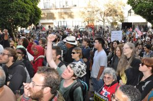 Protestors at the Occupy Oakland demonstration