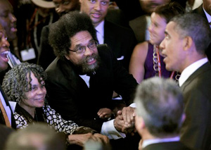 Cornel West,Obama, Washington DC,  July 2010