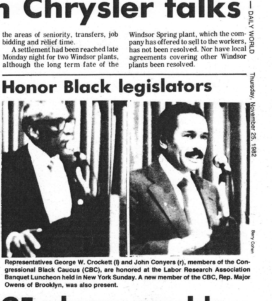 Communist Party USA's Daily World, November 25, 1982