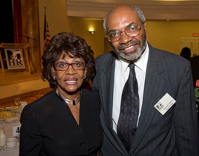 Maxine Waters and Abayomi Azikiwe