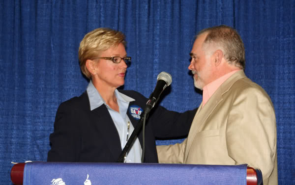 Gov. Jennifer Granholm and Paul Stevenson, Administrative Co-Chair of The Justice Caucus