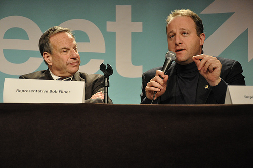 Bob Filner and Jared Polis at JStreet Conference, Oct. 26, 2009