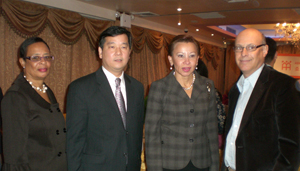 Deborah Boatright, Northeast District Director; Christopher Kui; ED, AAFE;  Nydia Velazquez, Keith Getter, Relationship Manager