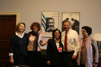 November 6, 2007, Filner's Capitol Hill office. Second from left Susan Schall, Dr. Nguyen Thi Ngoc Phuong, Bob Filner,  Merle Ratner