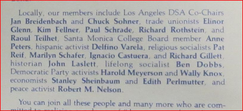 Circa late 1980s Los Angeles DSA brochure