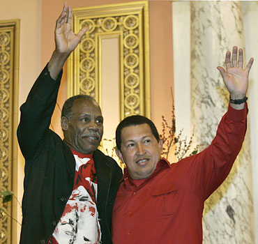 Danny Glover and Hugo Chavez